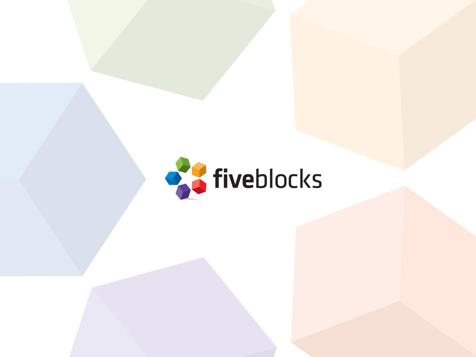 Five Blocks logo design
