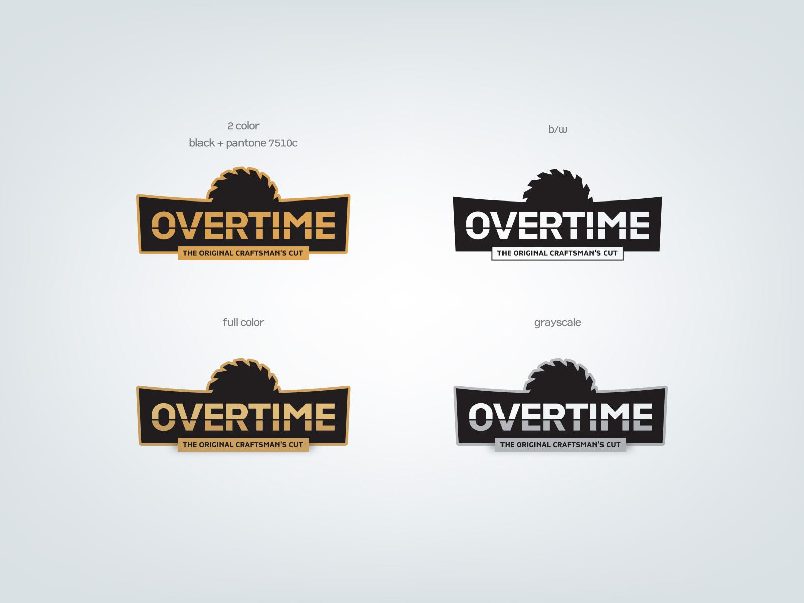 Overtime logo design