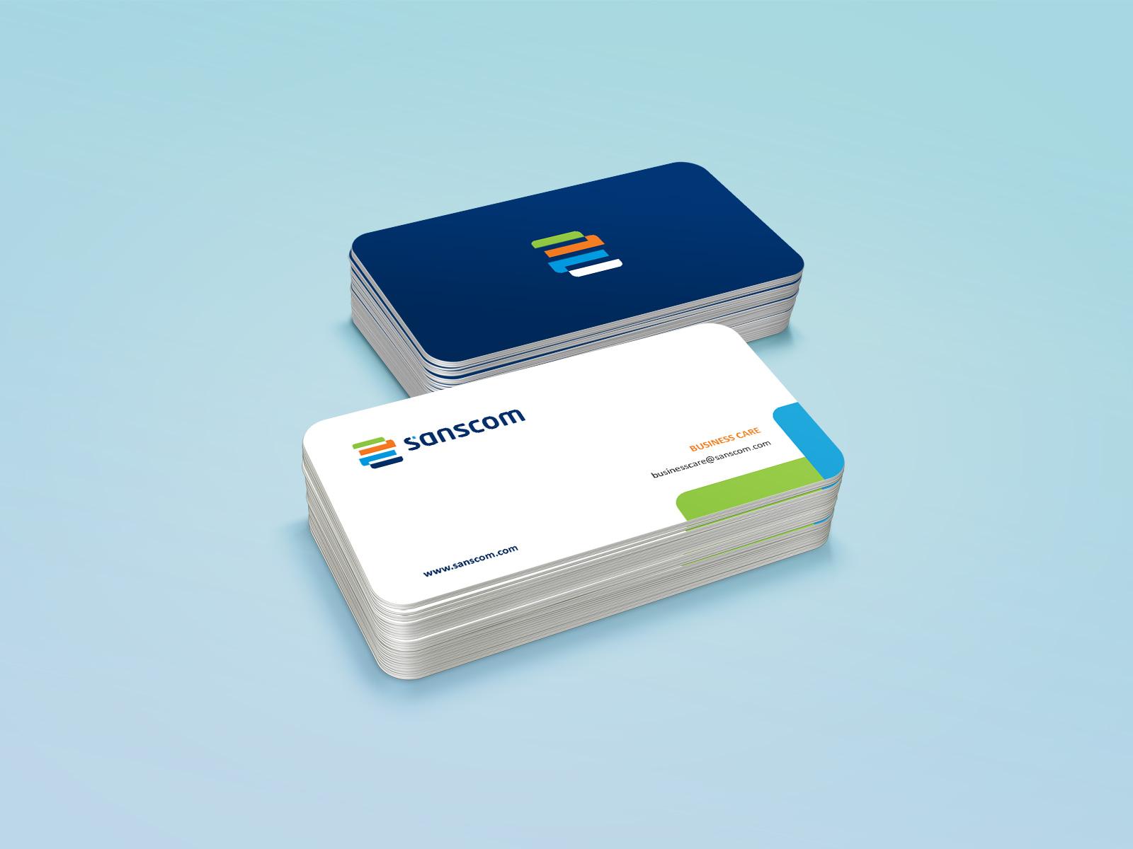 Sanscom business cards
