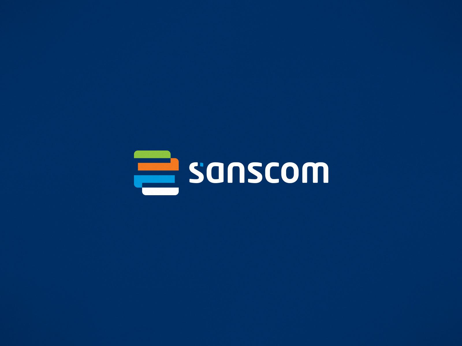 Sanscom logo design