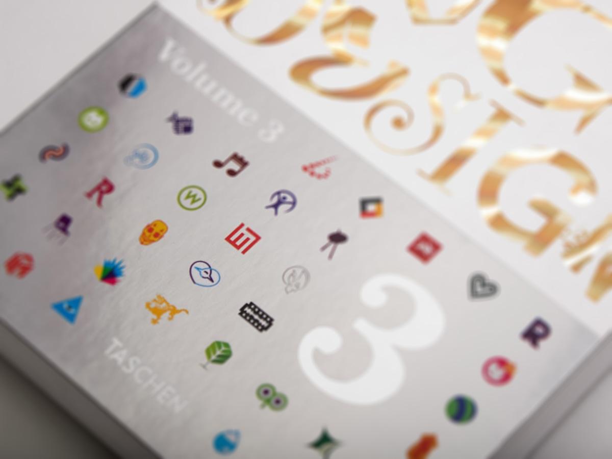 Sky Of Love logo design on the cover of Taschen Logo design vol.3