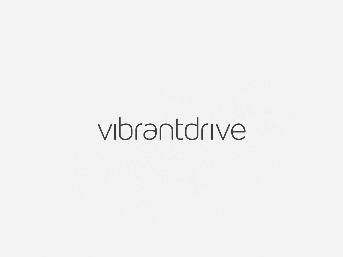 Vibrant Drive typography